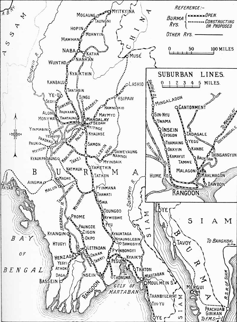 world railways photograph catalogue restoration archiving trust Myanmar Map a map of burma railways metre gauge system of nearly 2000 route miles as it existed in 1929