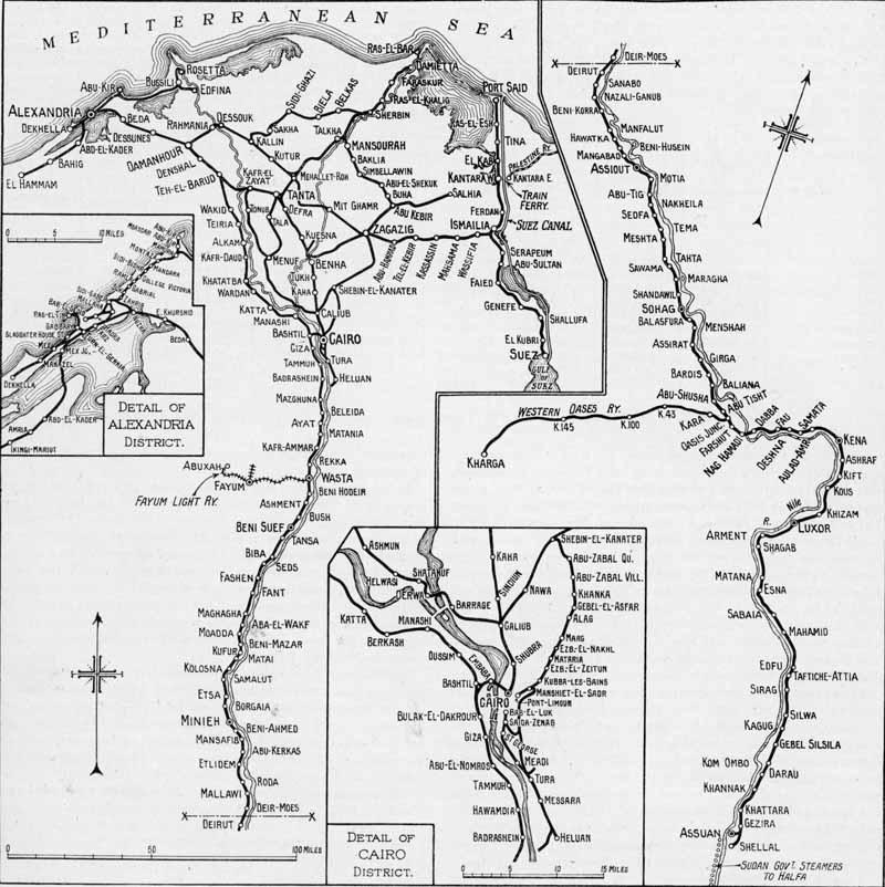 World Railways Photograph Catalogue Restoration Archiving Trust - Map of egypt 1920